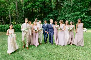 Wedding Party Portraits at Chesterwood Estate in Stockbridge, Massachusetts