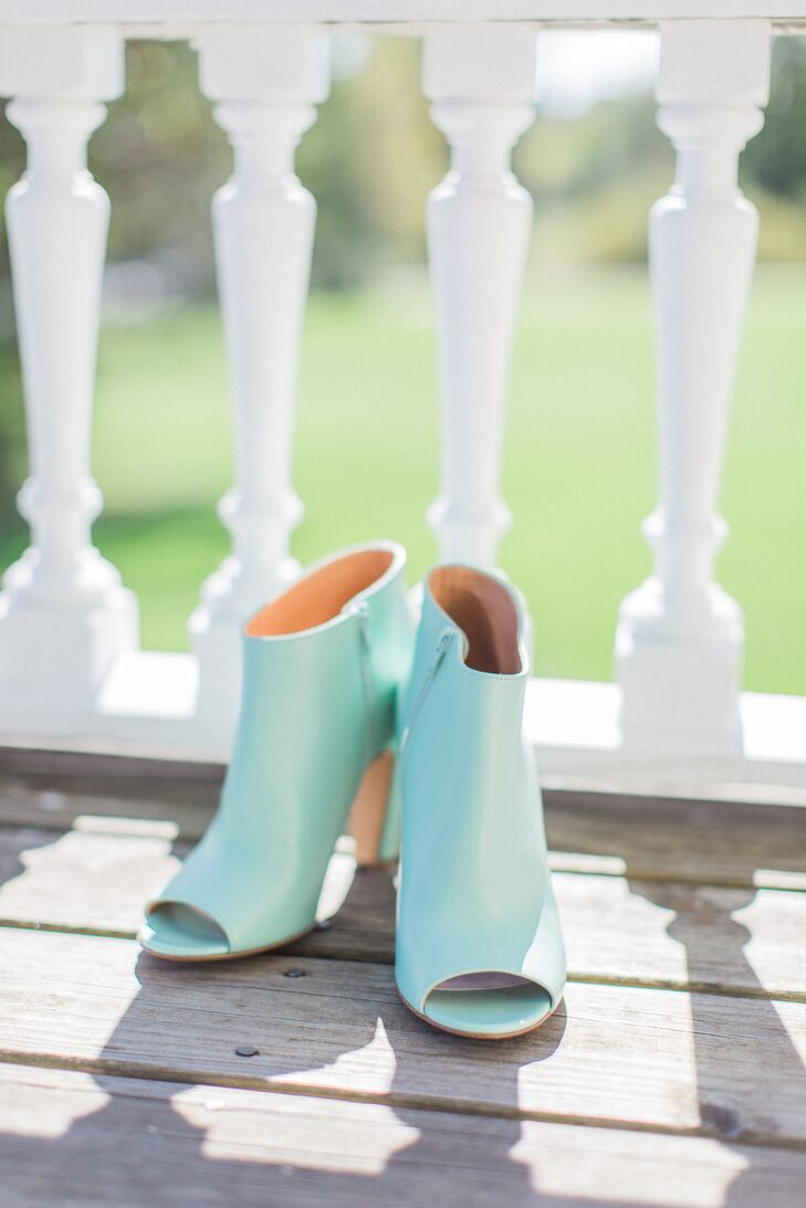 Modern Mint Peep-Toe Booties