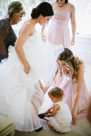 Flower Girl Helping with Heels