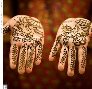 Following Indian tradition, Harini and some of her female loved ones had a mehndi party the night before the wedding.