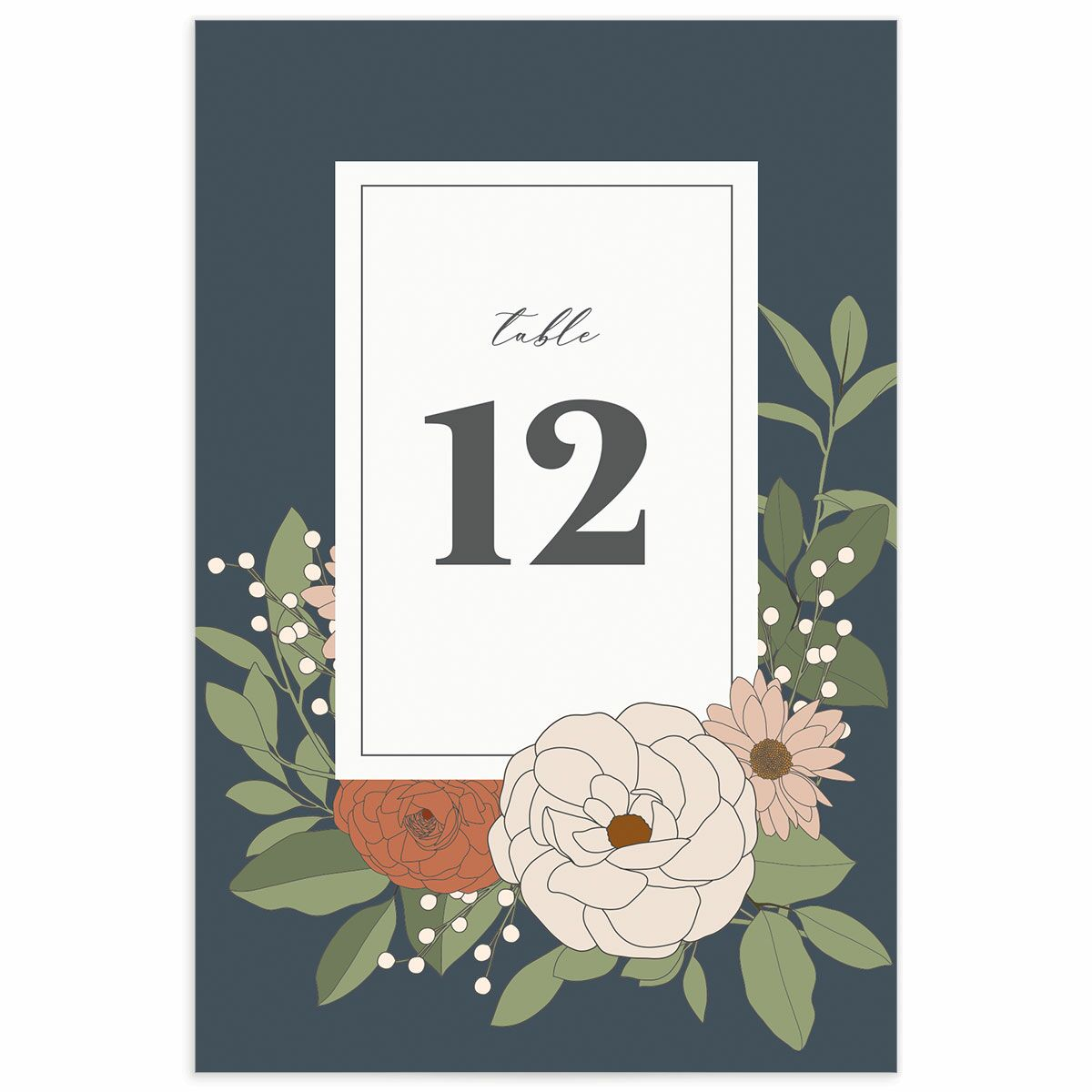 A Table Number from the Retro Botanical Collection
