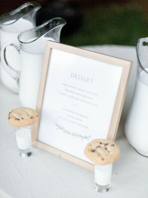 Simple Framed Sign with Cookie Shots