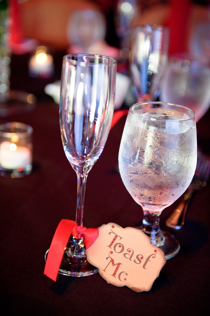 """Toast Me"" Sign With Champagne Glasses"
