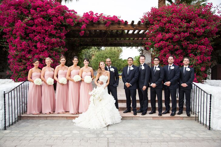 789824e5191 Navy And Pink Wedding Party - The Best Wedding Picture In The World