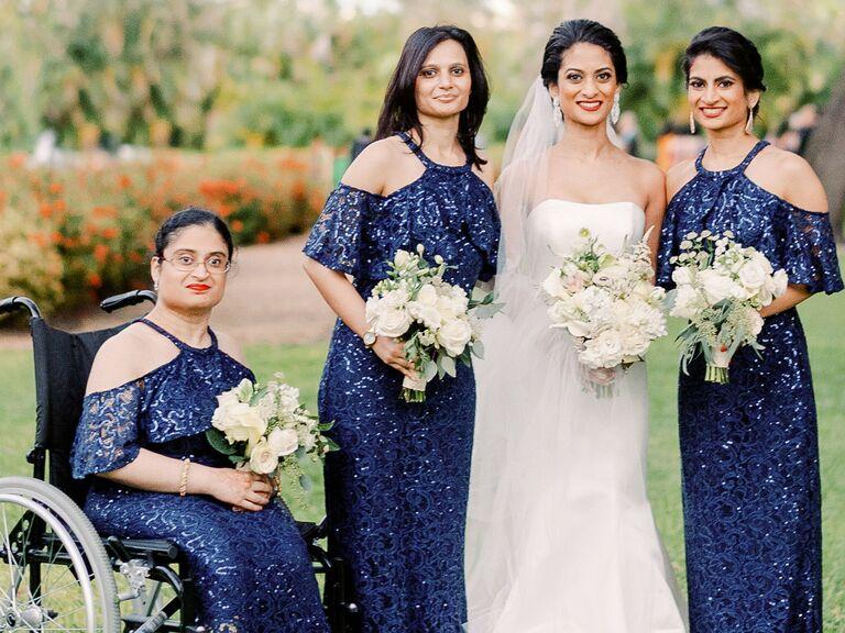 Bridesmaid updos bun