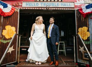 Kate Peeples and Mike Marchio wanted their wedding to reflect their love for Austin, Texas, so they booked Springdale Station—a new venue that was pre