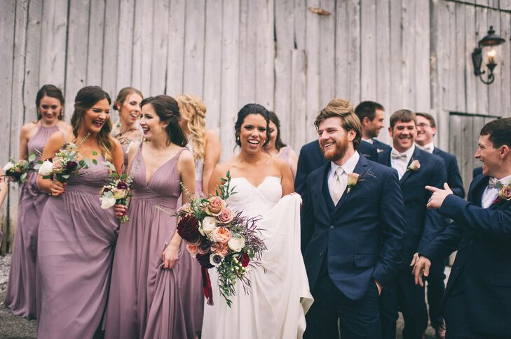 Dusty Purple Chiffon Bridesmaid Dresses
