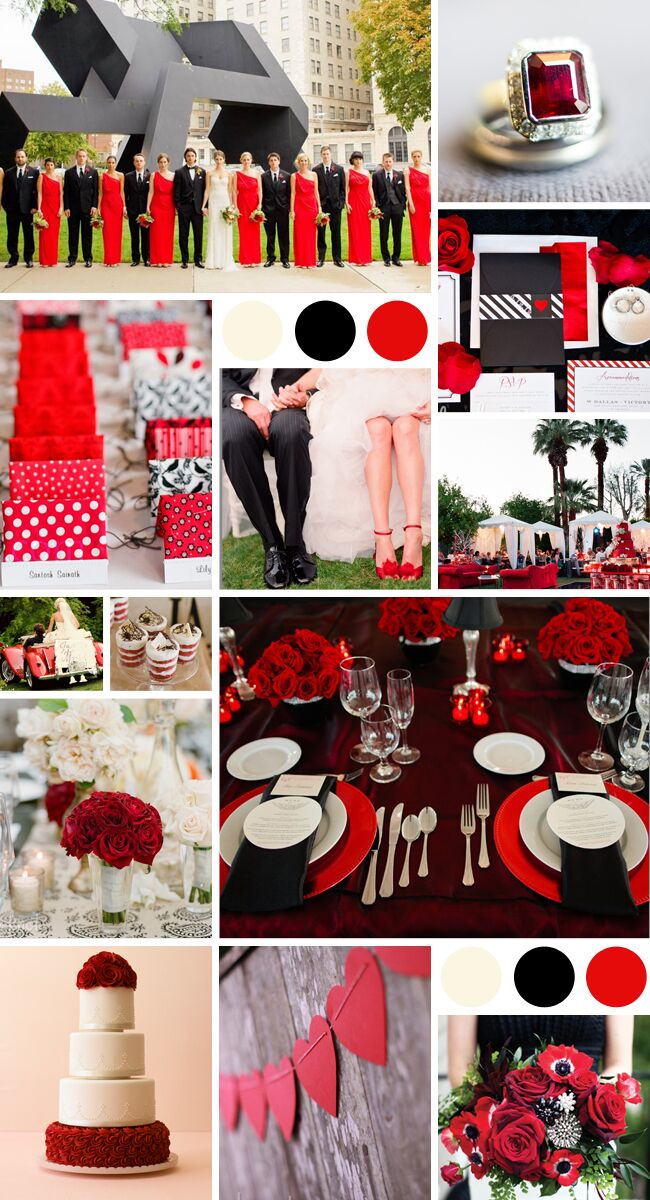 A Dramatic Color Palette In Red Black And White