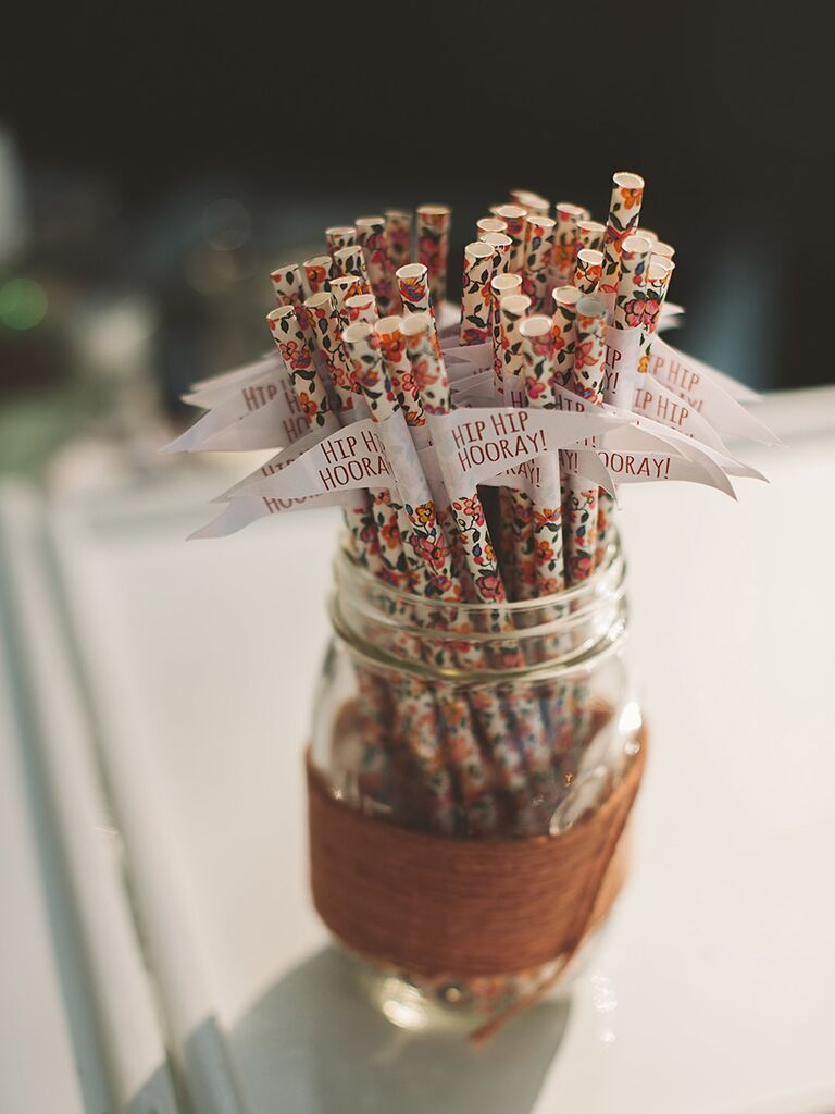 Drink straws with decorations
