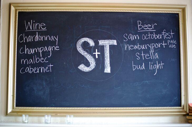 DIY Chalkboard Drink Menu