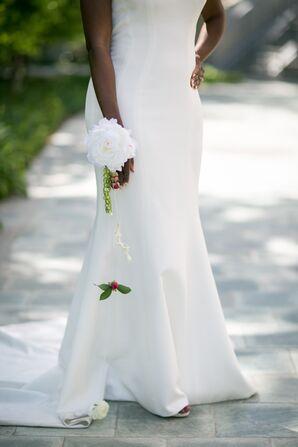 Simple White Flower Cuff