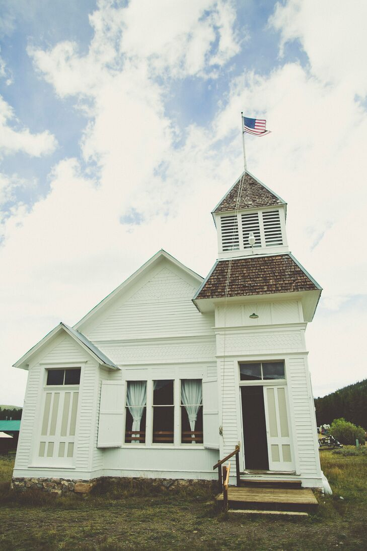 "Gracie and Carey exchanged vows in the historic Tincup Town Hall, which was established in 1903 and served the early miners of Tincup. Now, it hosts the ghost town's weekly square dance every Friday night. ""We all remain terrible at square dancing, but experts at enjoying ourselves,"" Gracie says. More importantly, it's where Gracie's parents exchanged vows 30 years before."