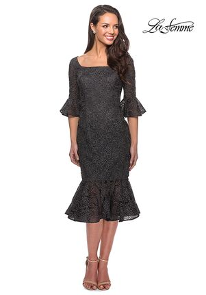 La Femme Evening 25523 Gray Mother Of The Bride Dress