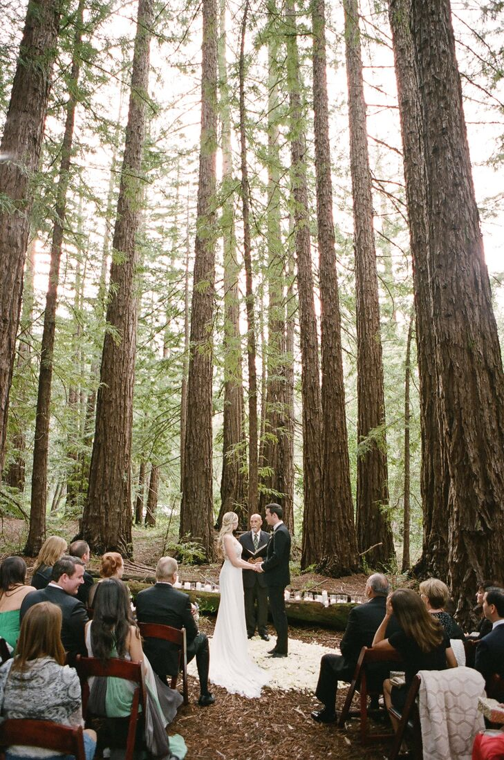 Rustic Forest Wedding Ceremony