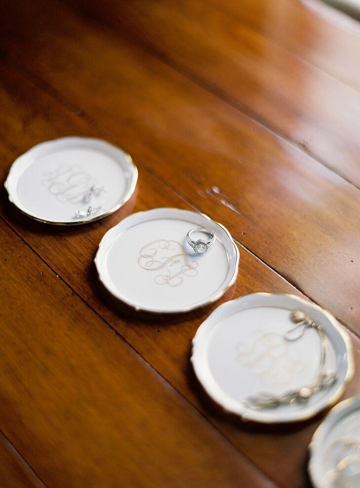 Monogrammed Jewelry Coasters