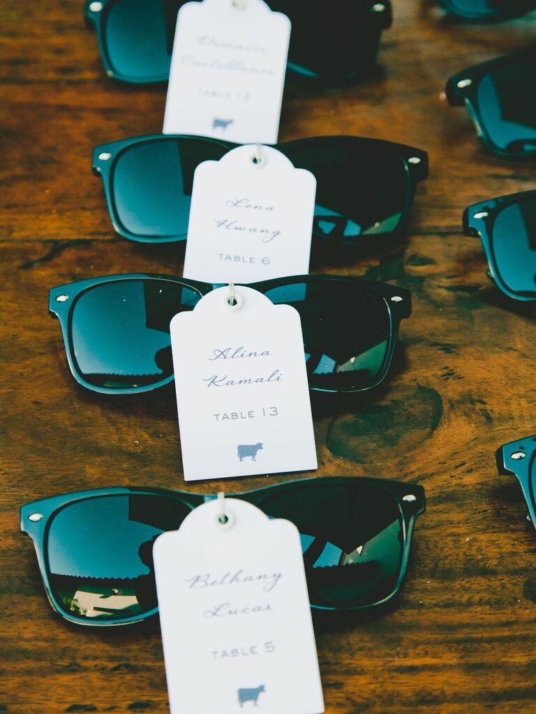 Sunglasses Escort Cards