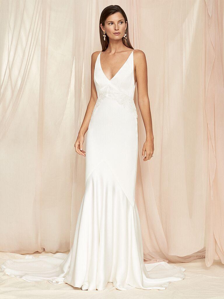 Savannah Miller spaghetti strap dress with lace bodice