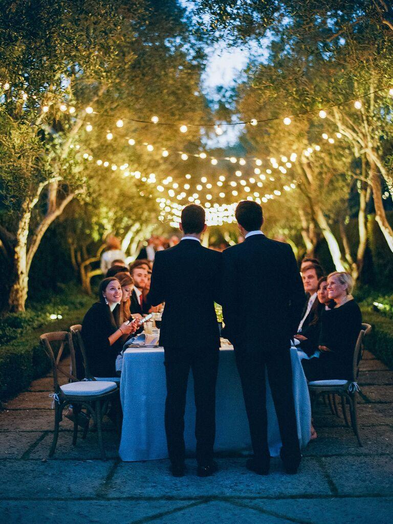 Backyard Wedding Ideas String Lights