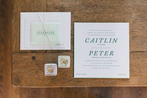 Modern Invitation Suite with Green Typography