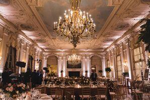 Romantic Rosecliff Ballroom Reception