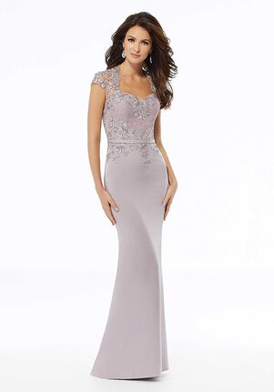 MGNY 72125 Blue Mother Of The Bride Dress
