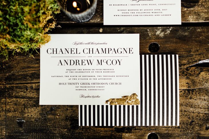 Modern Black and White Invitation Suite