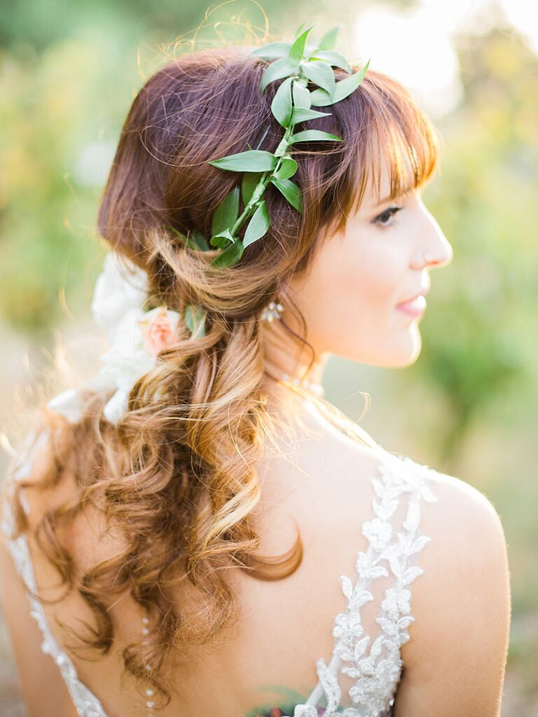 22 bridal flower crowns perfect for your wedding wedding flower crown made of greenery izmirmasajfo