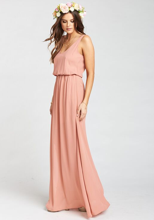 953f19080a2 Show Me Your Mumu Kendall Maxi Dress - Rustic Mauve Crisp V-Neck Bridesmaid  Dress