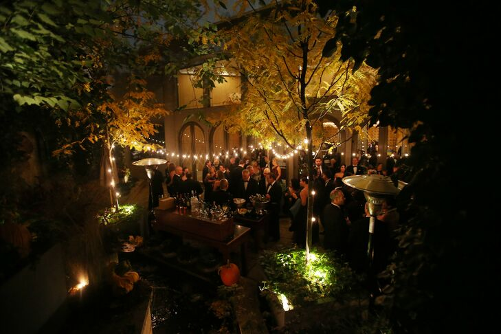 Outdoor Reception with String Lights at The Rittenhouse Hotel in Philadelphia