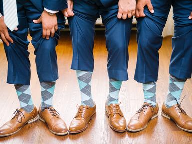 colorful groomsman socks