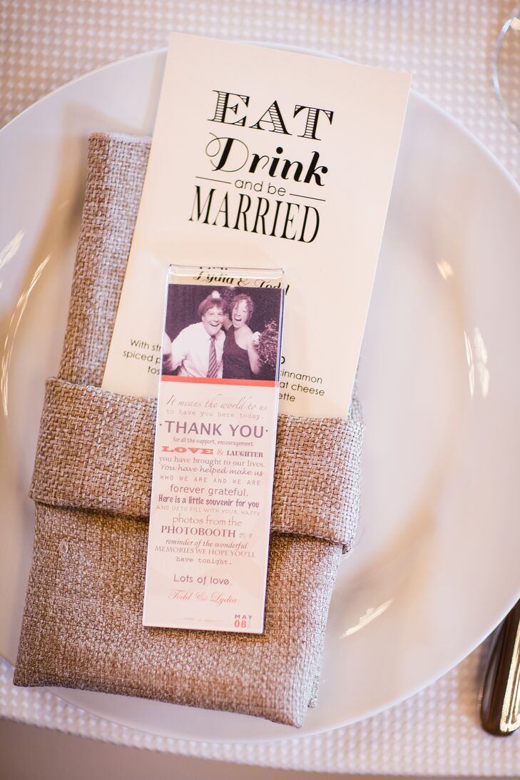 Burlap Linens and Playful Custom Menus