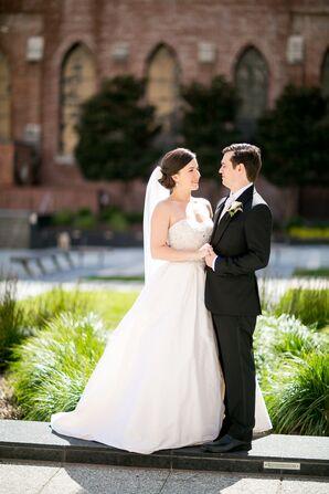 White Martina Liana A-Line Wedding Dress