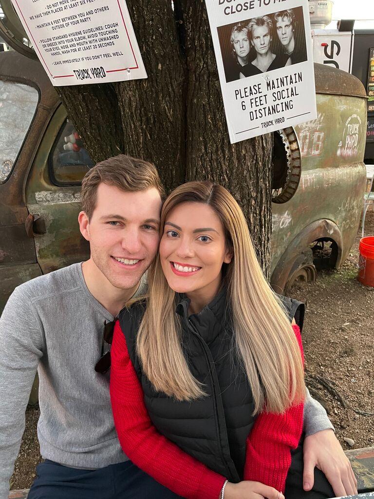 Celebrating the engagement of Lauren & Tyler at Truck Yard!