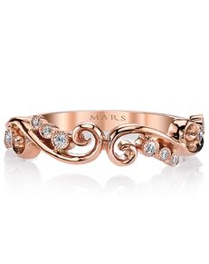 MARS Fine Jewelry MARS Jewelry 26507 Wedding Band Rose Gold Wedding Ring