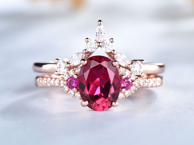 exquisite ruby engagement ring