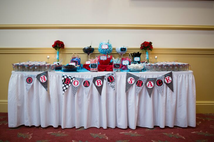 Colorful Assorted Candy Bar With Jars
