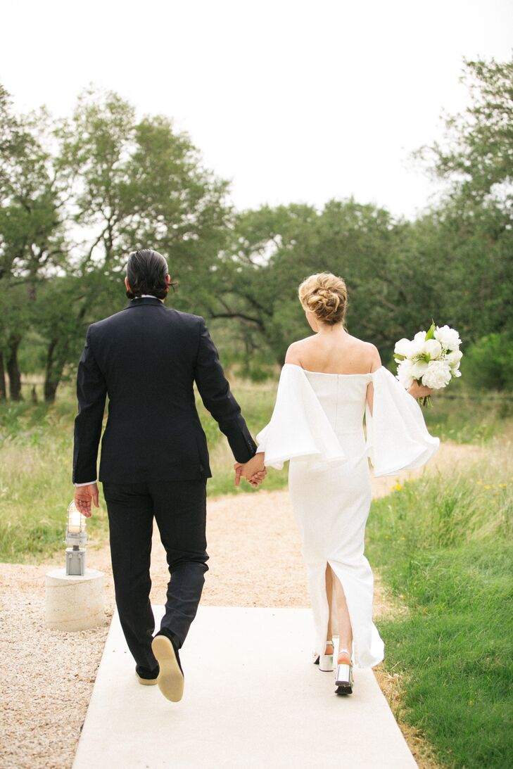Modern Couple in Classic Suit and Chic Sheath Dress