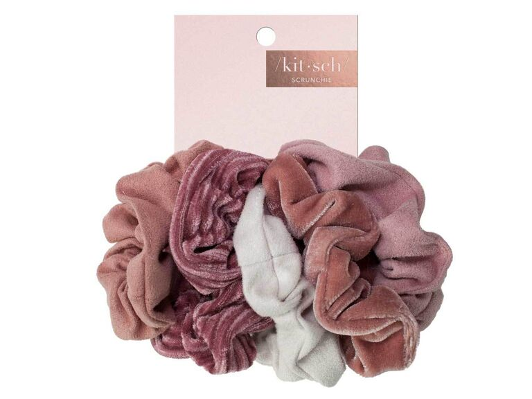​Kitsch velvet scrunchies affordable bridesmaid gifts