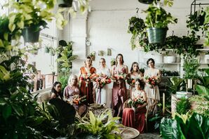 Bridesmaid Portraits at Fancy Free Nursery in Tampa, Florida