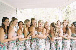 Floral Blush Bridesmaid Jumpsuits