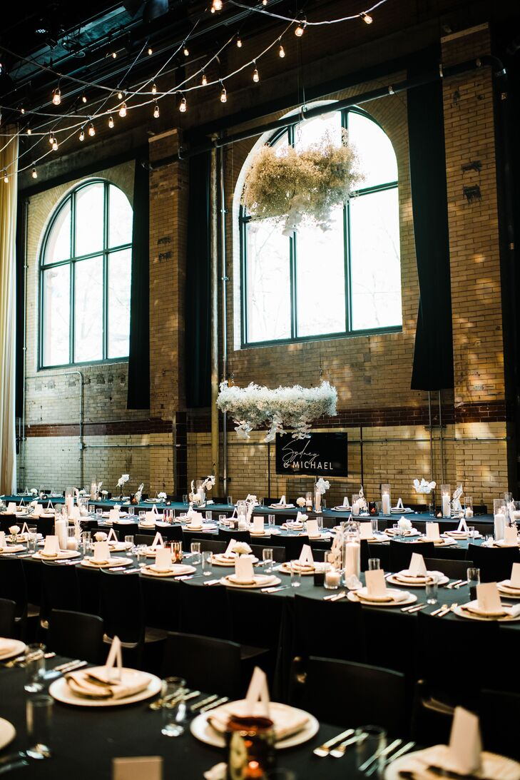 Industrial and Glamorous Reception at La Peg Brasserie in Philadelphia, Pennsylvania