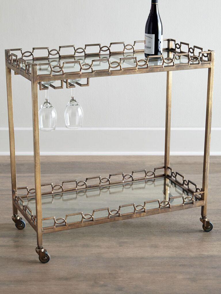 Hamilton Bar Cart wedding registry item