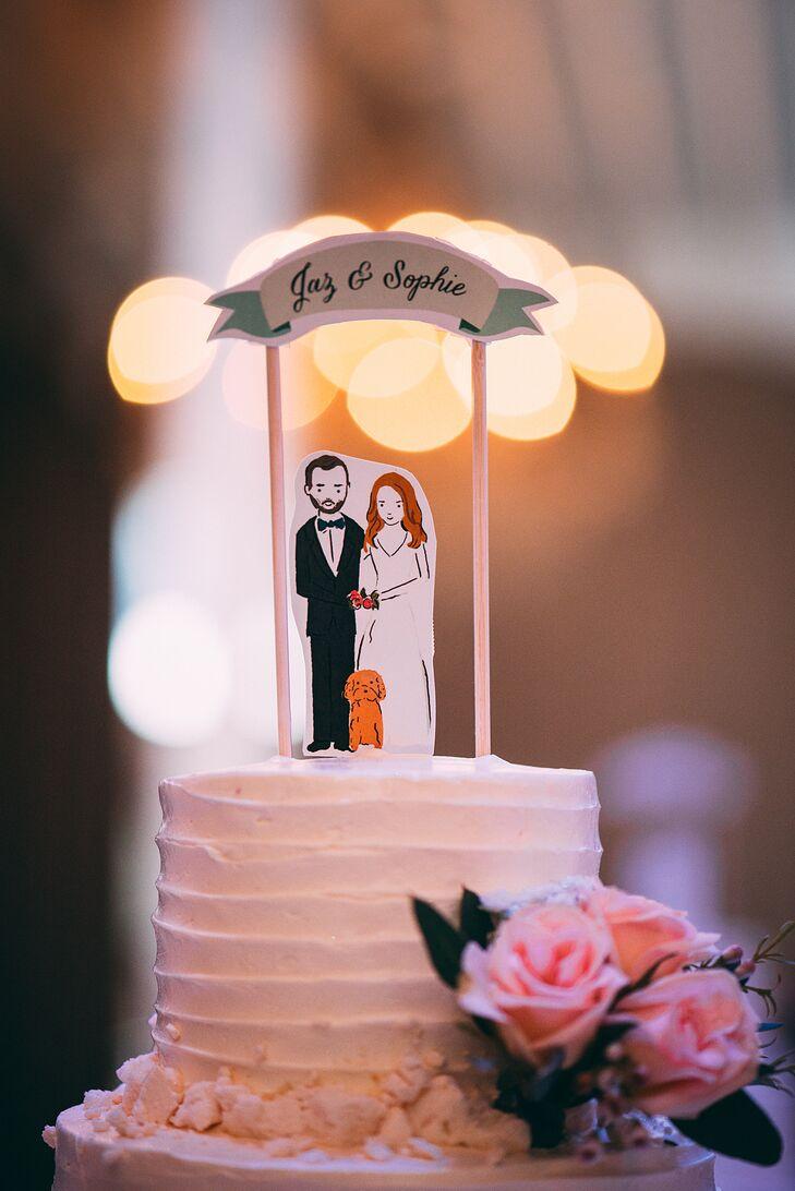 Custom Illustration Wedding Cake Topper