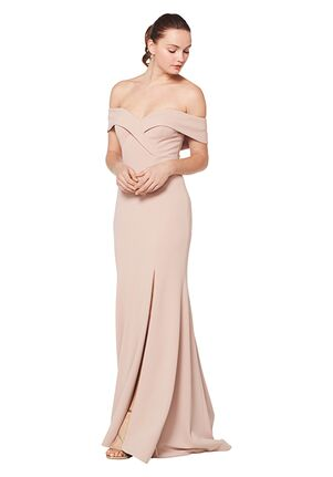 Bill Levkoff 1623 Off the Shoulder Bridesmaid Dress