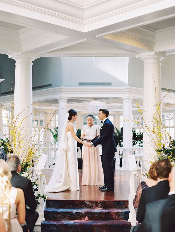 Couple Saying Vows at the Fairmont Hotel in Washington, DC