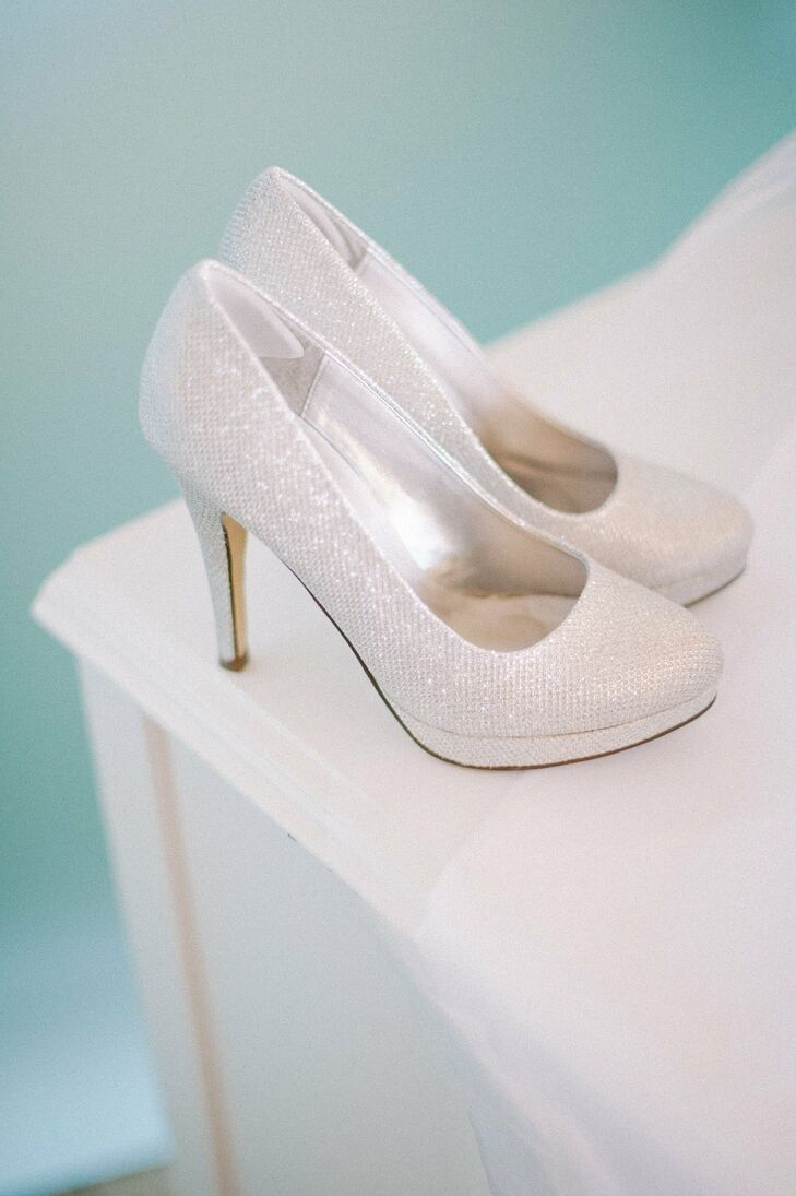 34c870c652c Sparkly White Bridal Shoes