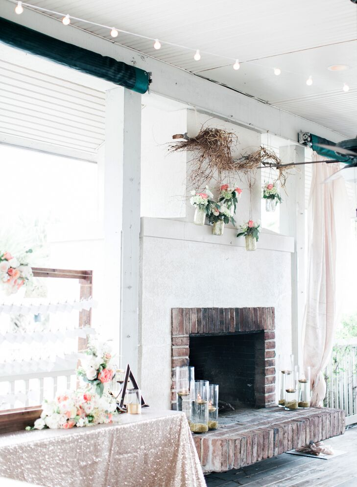 Rustic Glam Fireplace Decor