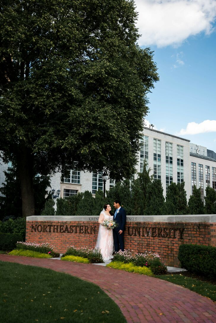 Wedding Portraits at Northeastern University in Boston