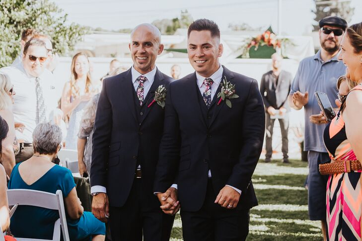 Three-Piece Ted Baker Suits and Floral Ties