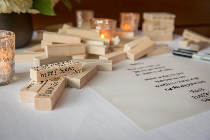 Jenga Wood Blocks Guest Book